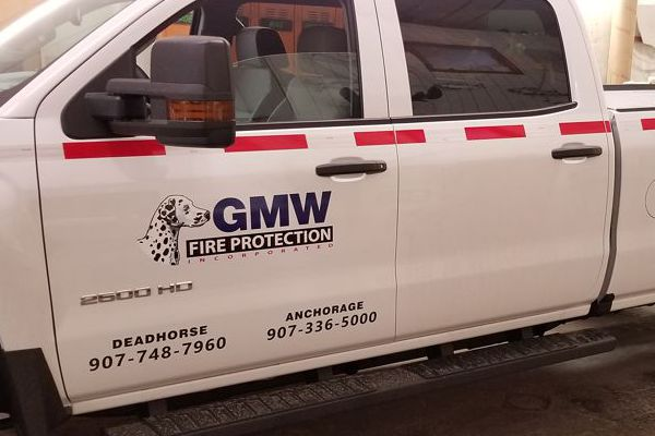 Logo & Safety Striping on GMW Truck